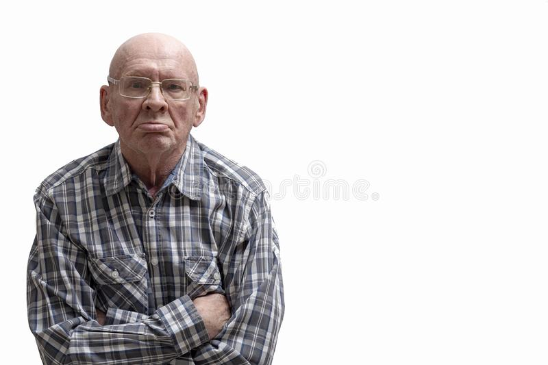 Portrait of an old man stock image