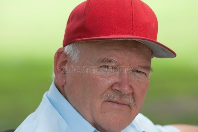 Portrait of old man stock photos