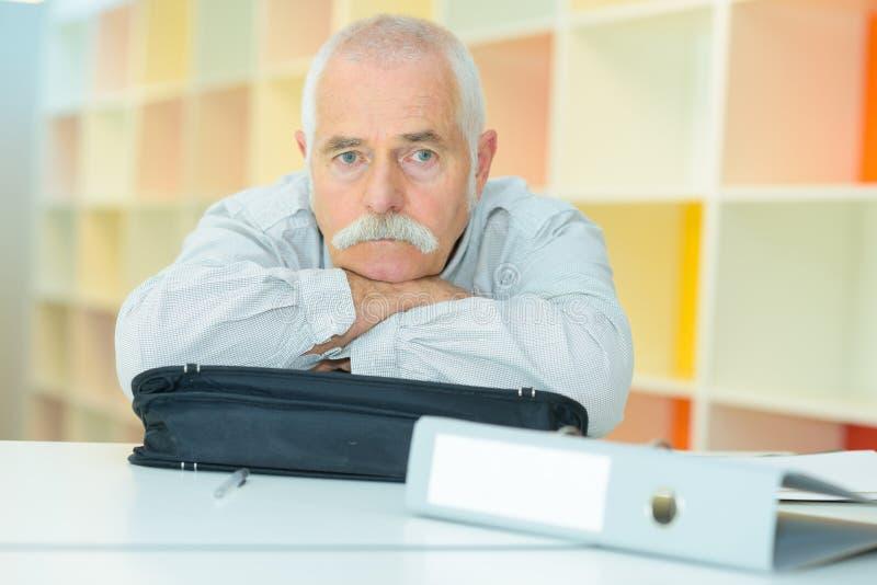 Portrait old retired senior man stock image