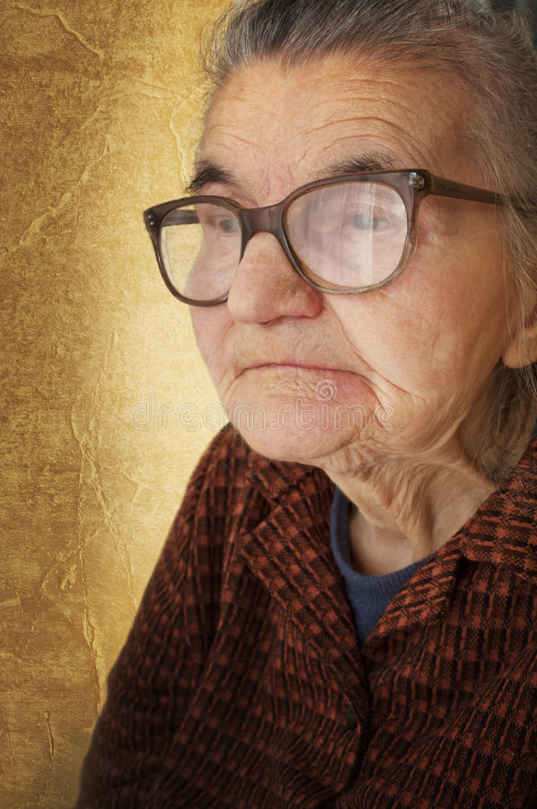 Portrait of old woman royalty free stock photos