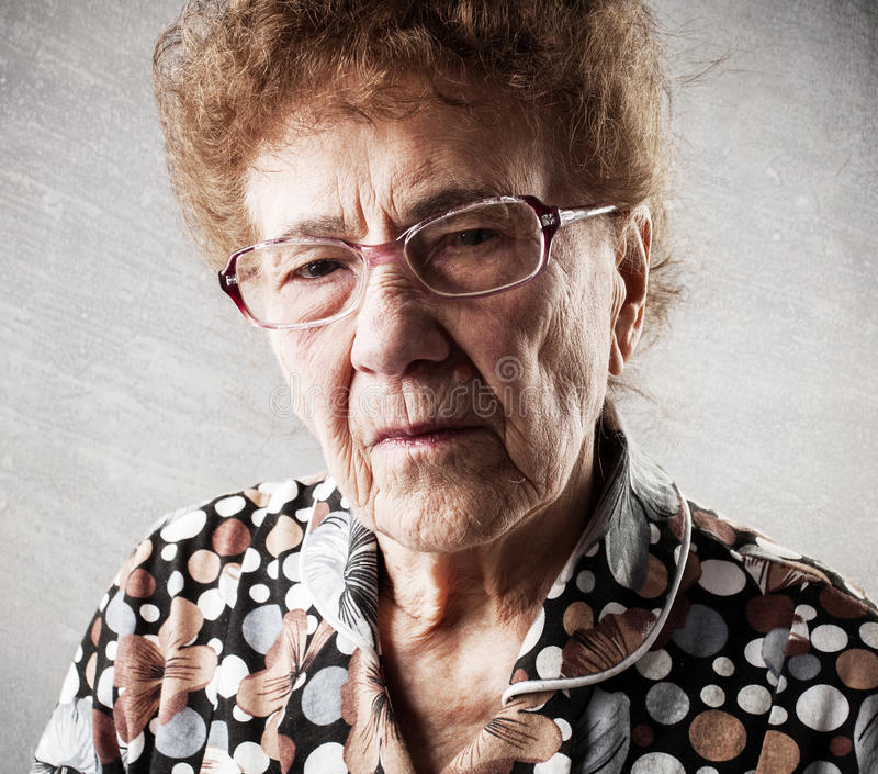 Portrait of an old woman royalty free stock photos