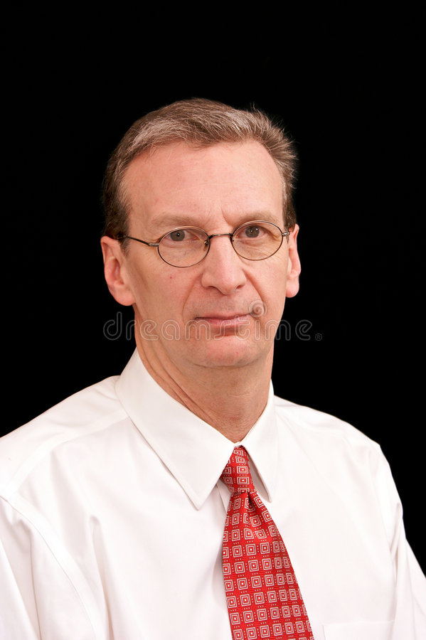 Download Portrait Of Older Business Man In Shirt And Tie On Stock Image - Image: 9118001