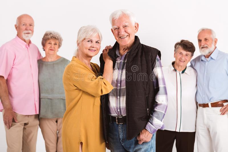 Portrait of older friends royalty free stock image