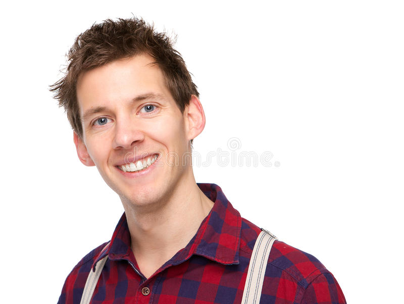 Portrait of one young man royalty free stock photography