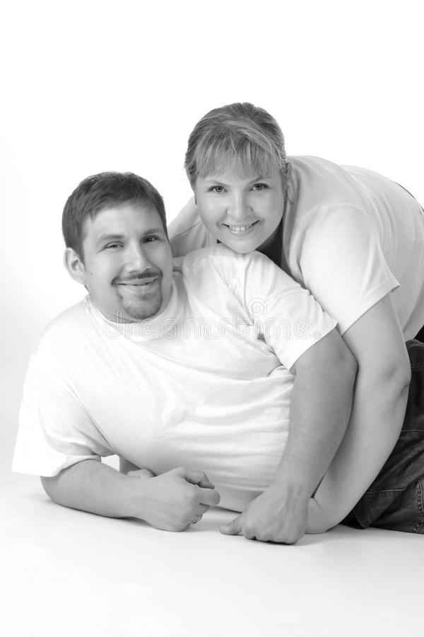 Portrait of an ordinary couple stock photography