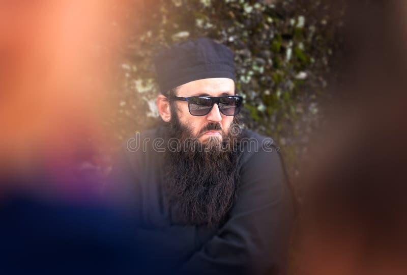 The portrait of orthodox priest stock photo