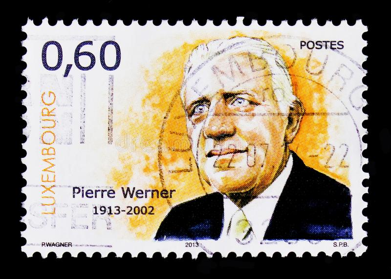 Portrait of P. Werner, 100 anniversary of birth, Famous people serie, circa 2013 stock photos
