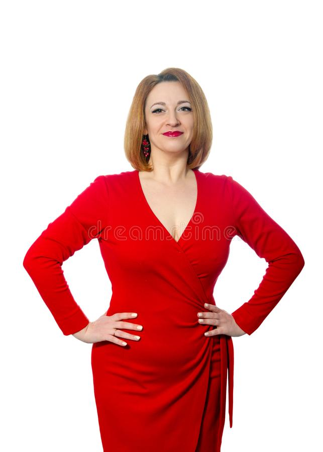 Passionate beautiful adult woman royalty free stock photo