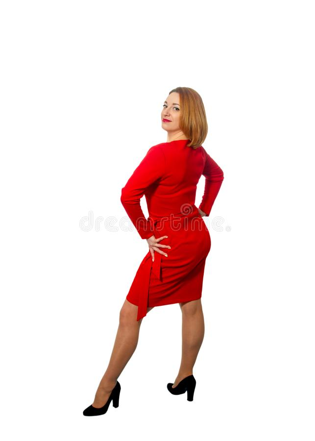 Passionate beautiful adult woman stock photo