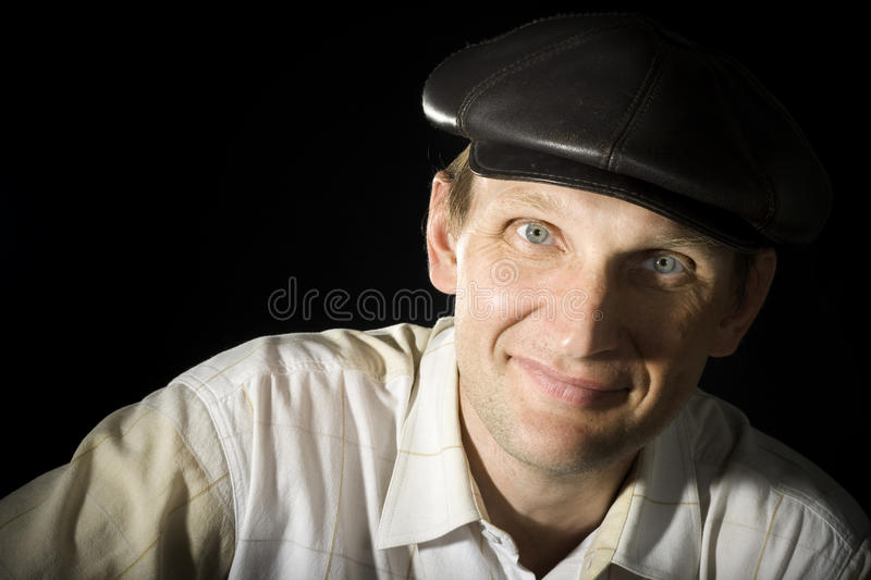 Download Portrait Of The Person In A Cap Stock Image - Image: 15094125