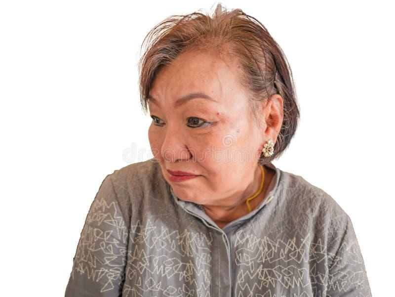 Portrait photo of Beauty Senior Asian women. Portrait photo of Beauty Senior Asian woman on isolated background stock photo