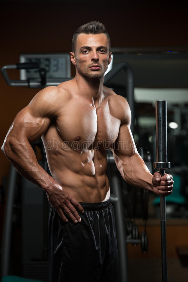 Portrait Of A Physically Fit Young Man stock image
