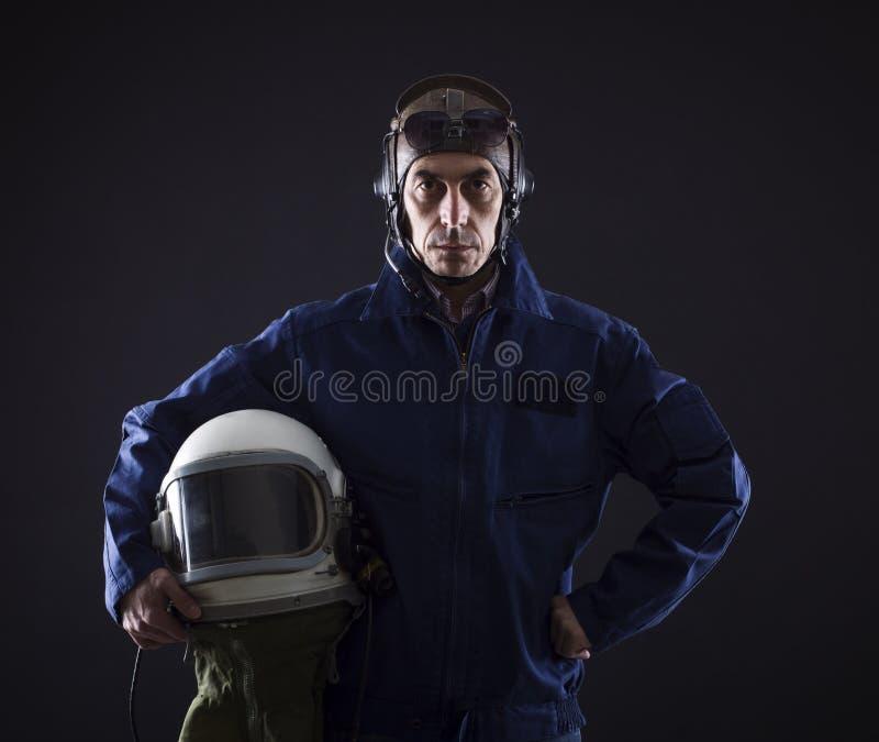 Portrait of a pilot businessman royalty free stock image
