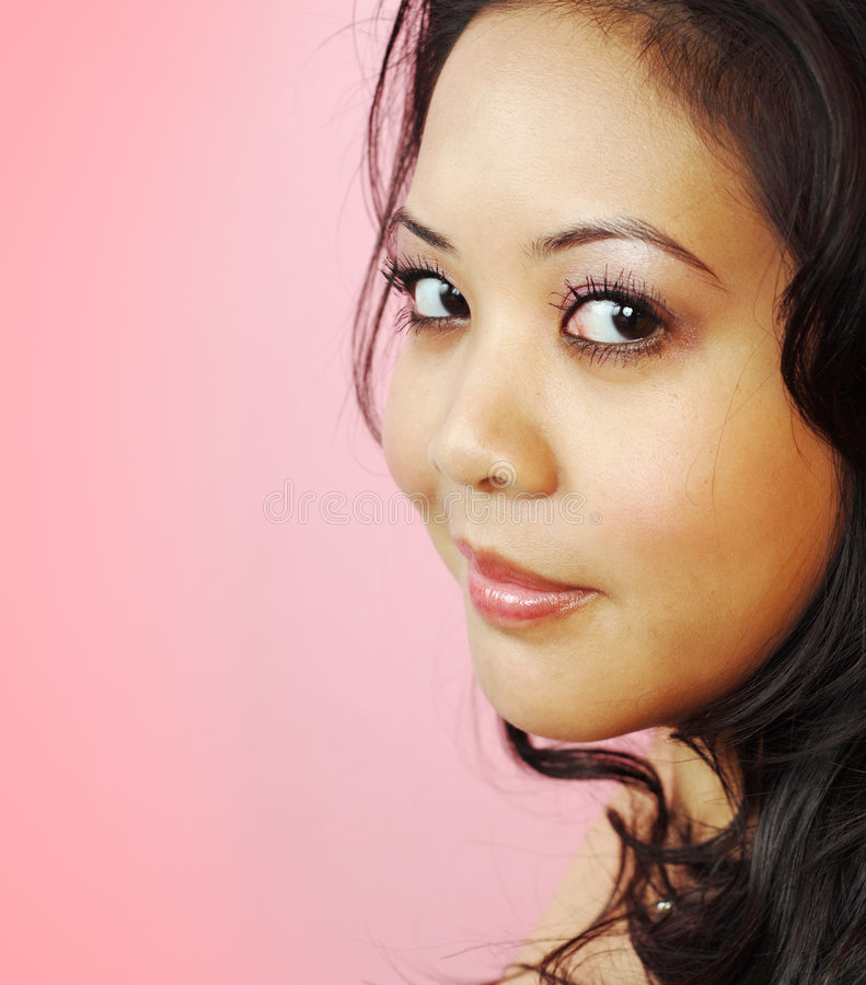 Portrait on pink royalty free stock photos