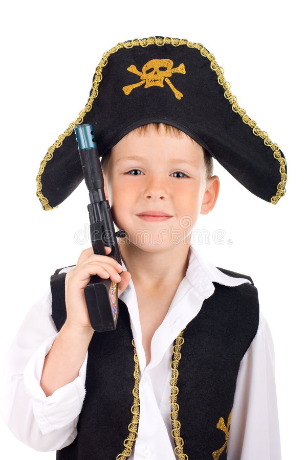 Portrait of a pirate stock photography