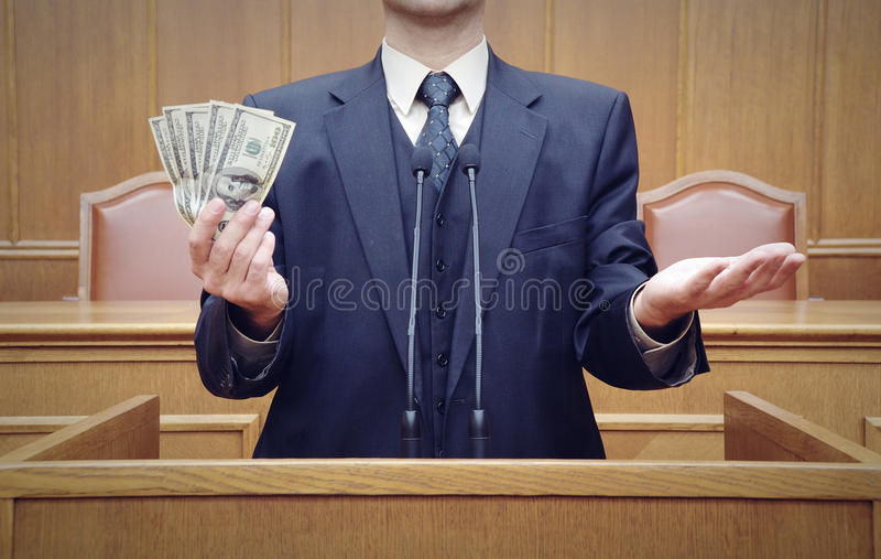Portrait of a politician stock image