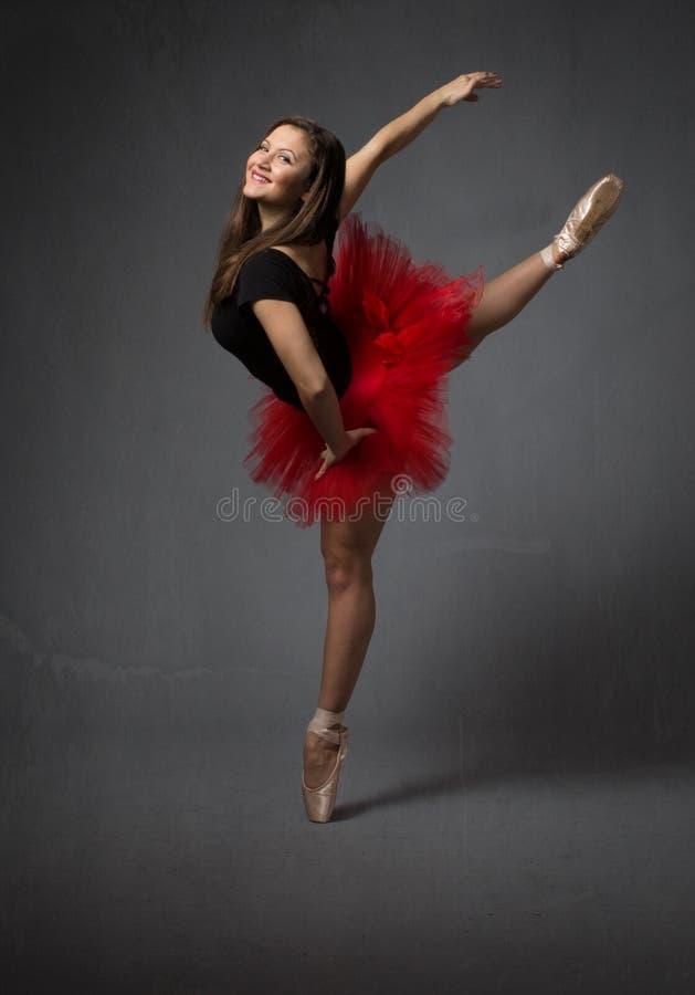 Portrait pour une ballerine heureuse images libres de droits