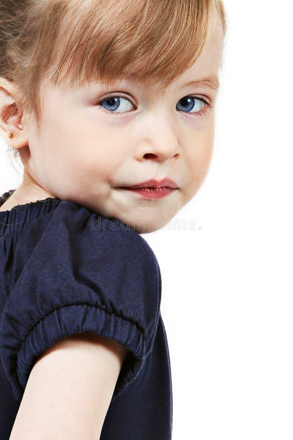 Portrait of preschool girl royalty free stock photography