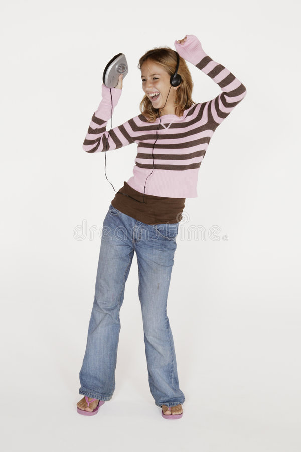 Download Portrait of preteen stock photo. Image of females, headset - 1038576