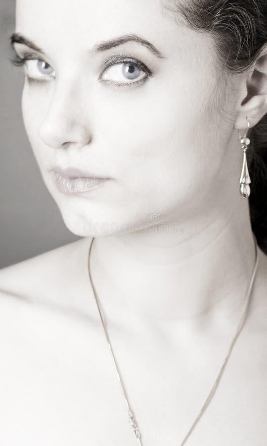 Portrait of a pretty girl stock photo
