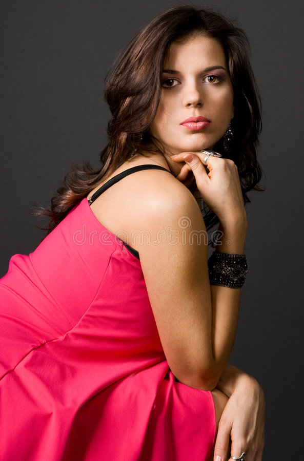 Portrait of pretty girl royalty free stock photography