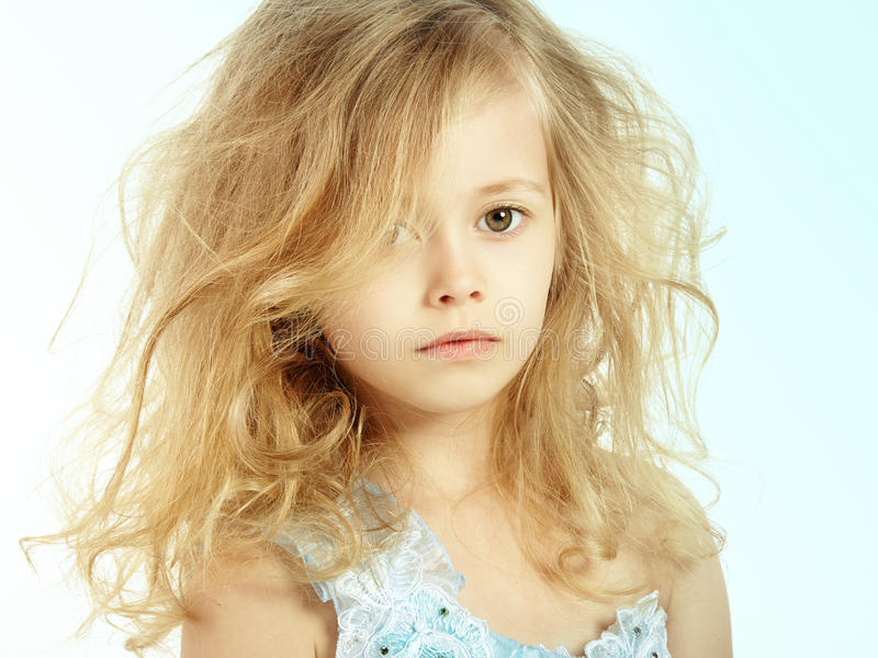 Portrait of pretty little girl royalty free stock image