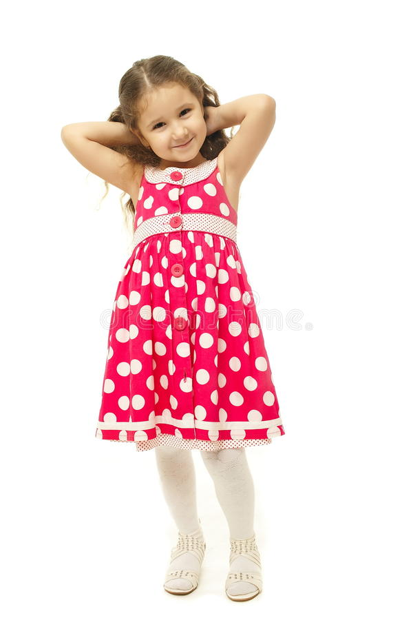 Download Portrait Of A Pretty Little Girl In Pink Dress Royalty Free Stock Photos - Image: 22294908