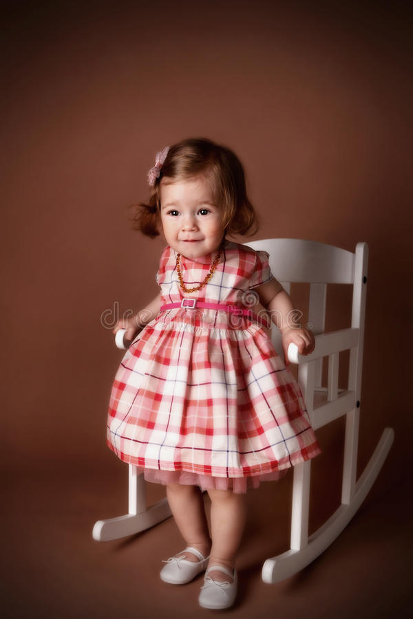 Portrait of a pretty little girl royalty free stock photo