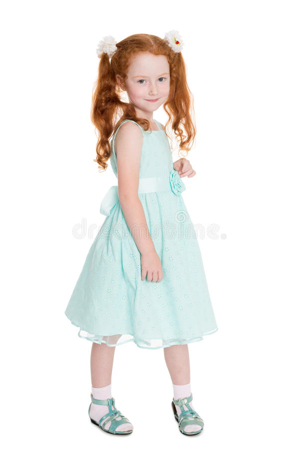 Portrait of a pretty red haired girl royalty free stock images