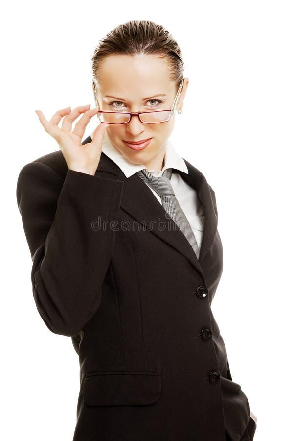 Portrait of pretty smiley businesswoman