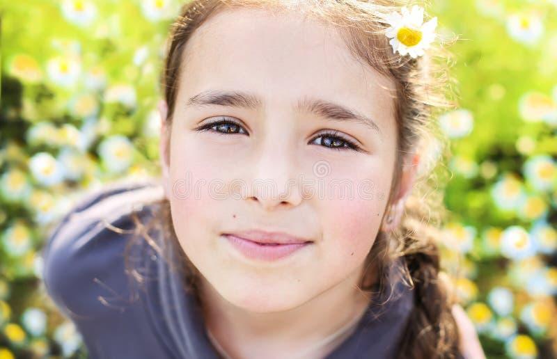 Portrait of pretty teen girl stock photography