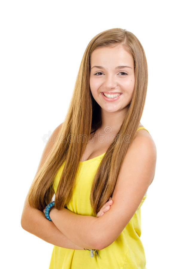 Download Portrait Of Pretty, Teen Girl Smiling Stock Photo - Image: 32522548