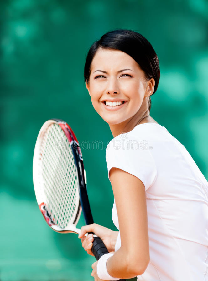 Download Portrait Of Pretty Tennis Player Stock Image - Image: 26637403