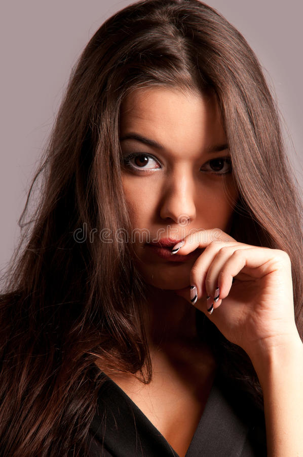 Download Portrait of pretty woman stock image. Image of beauty - 22825865
