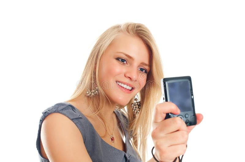 Download Portrait Of A Pretty Young Female Stock Image - Image of looking, mobile: 17815099