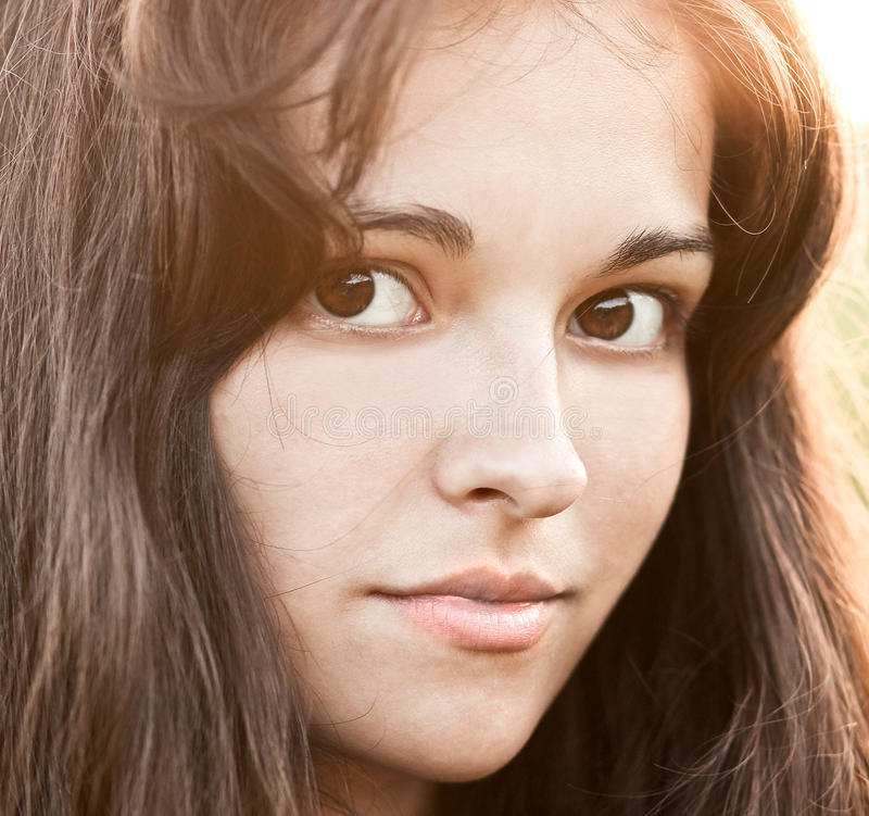 Portrait of pretty young girl royalty free stock photo
