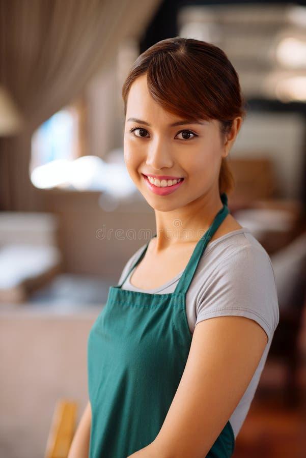 Lovely waitress stock photos