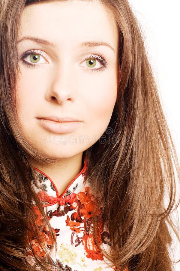 Portrait Of A Pretty Young Woman Stock Photography