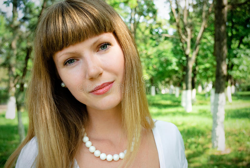 Portrait of pretty young woman royalty free stock images