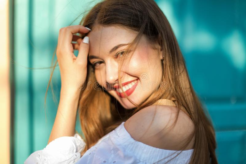 Portrait of a pretty young woman royalty free stock photography