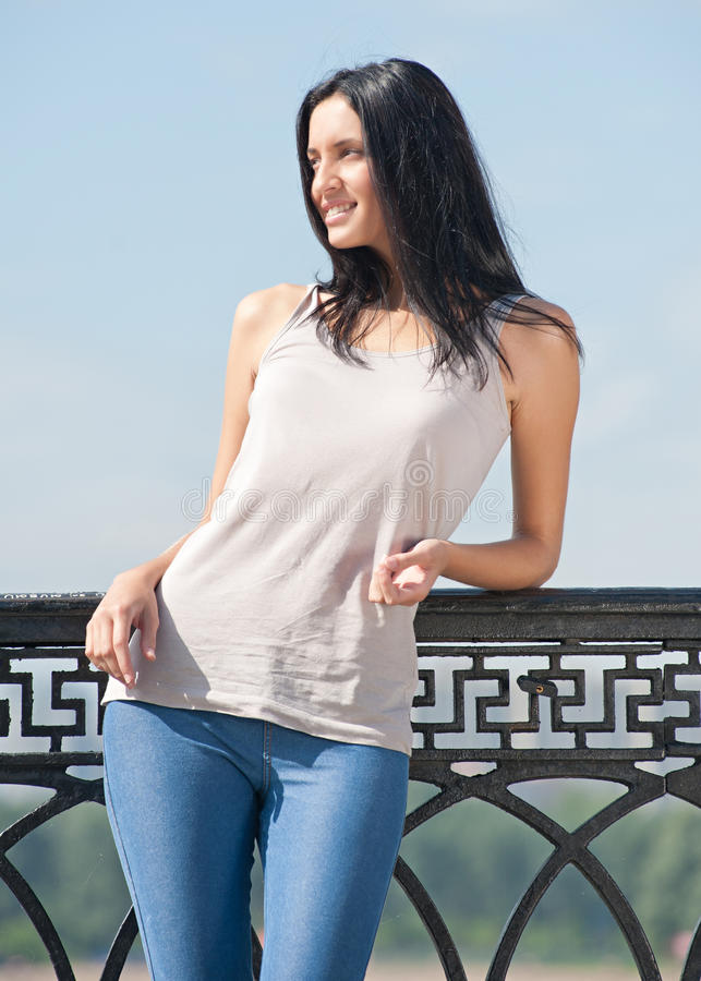 Download Portrait Of Pretty Young Woman Outdoors Stock Photo - Image: 20642196