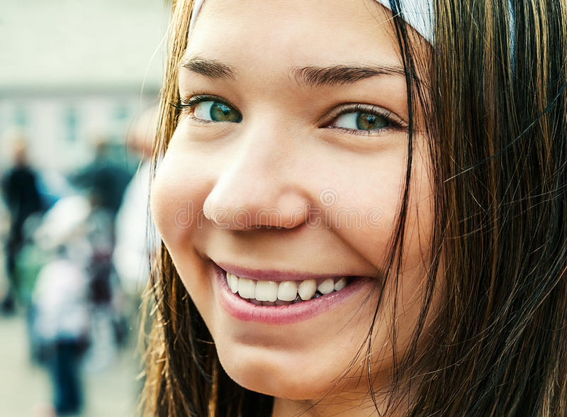 Portrait of pretty young woman stock images
