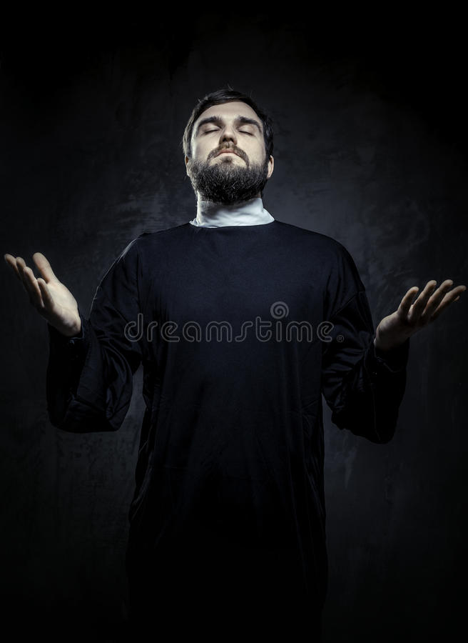 Download Portrait of priest stock image. Image of pious, arms - 28660951