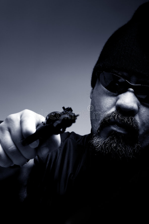 Download Portrait Of A Professional Assassin Stock Photo - Image of gangster, larceny: 6510934