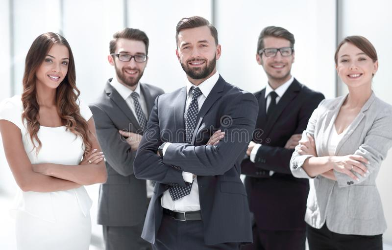 Portrait of a professional business team. stock images