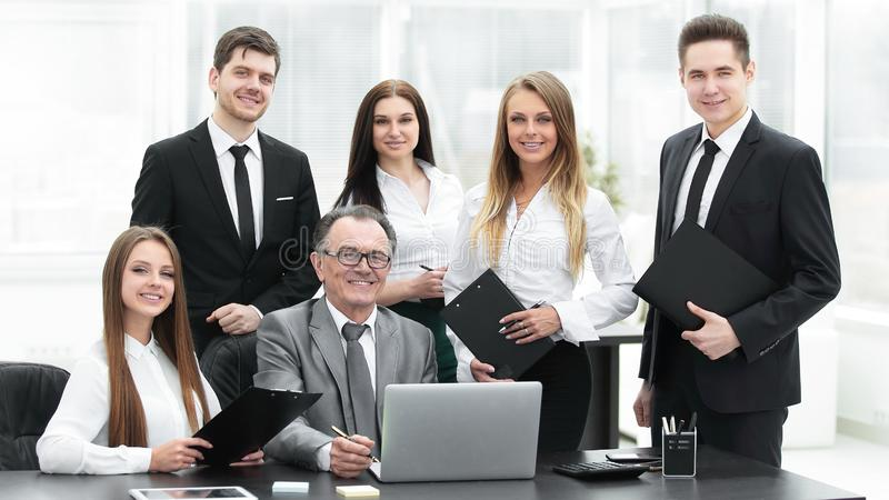 Portrait of a professional business team in the office royalty free stock images