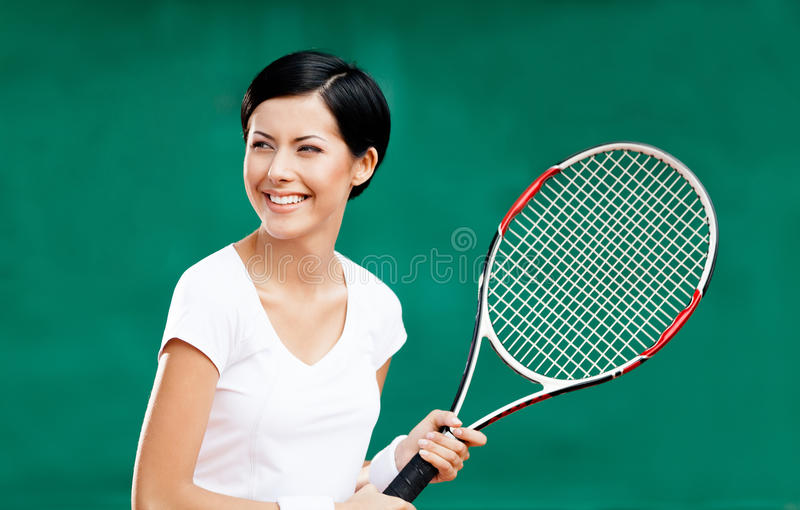 Download Portrait Of Professional Female Player Stock Photo - Image of adult, cute: 26637406