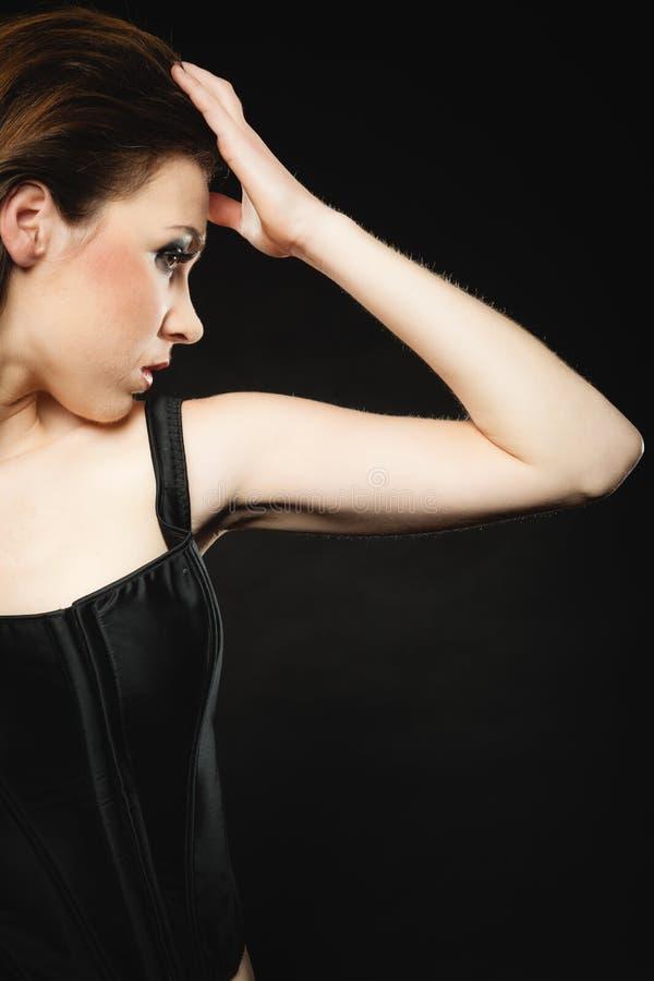 Portrait punk de fille de beauté de culture secondaire photo libre de droits