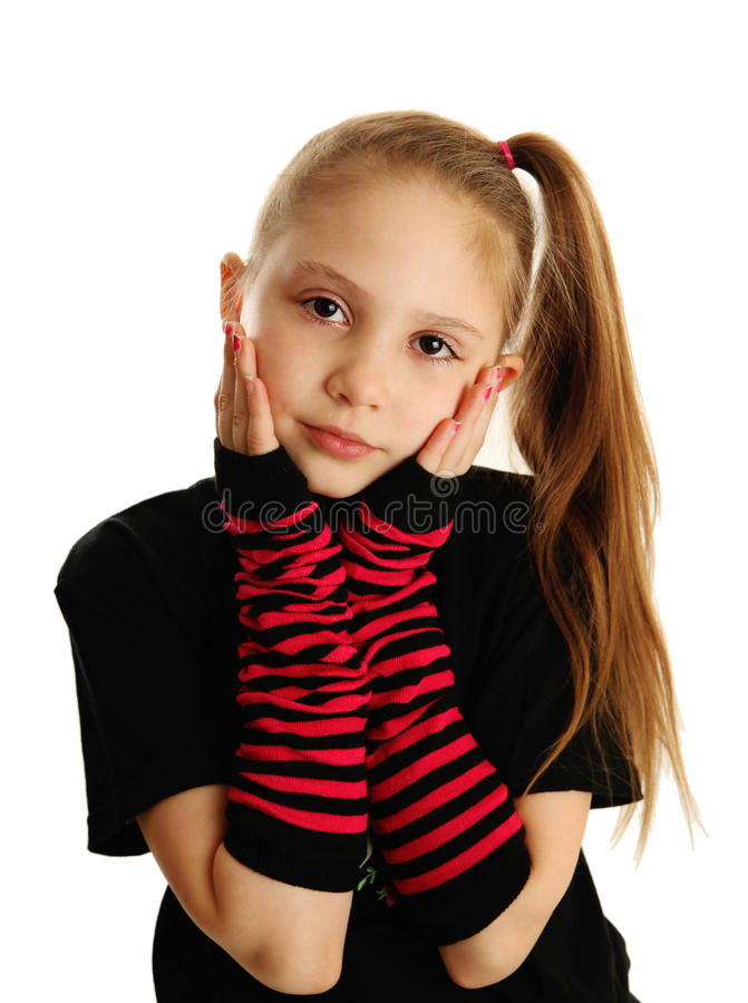 Portrait of a punk rock girl royalty free stock photo