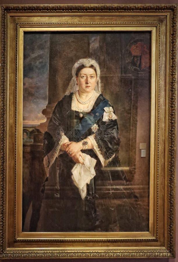 Portrait of Queen Victoria stock photography
